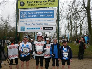 Deux podiums au semi marathon de Paris